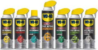WD40 for Motorcycles Cleans Protects and Lubricates.