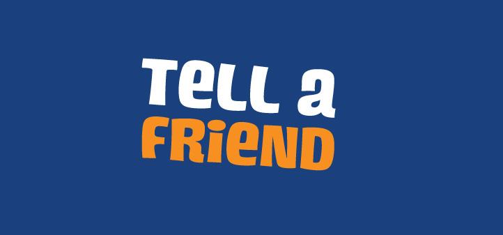 Image result for tell a friend
