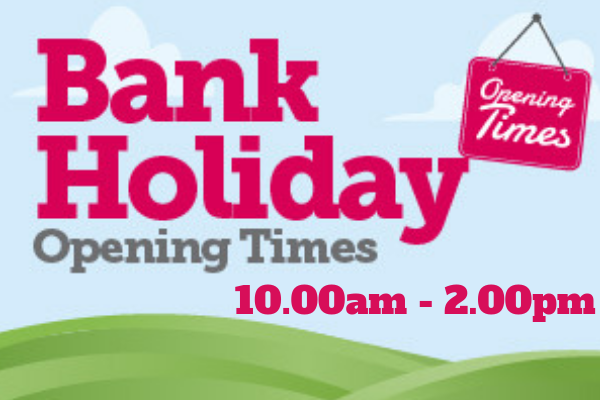 Bank Holiday Monday Opening Hours