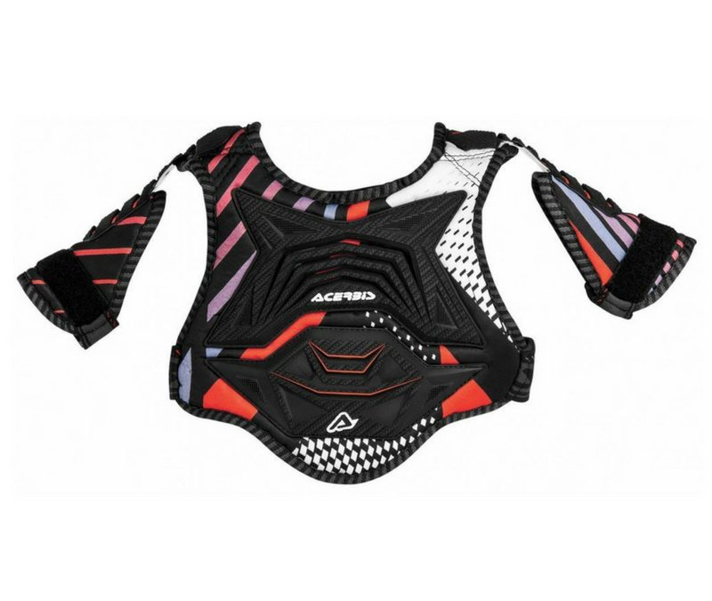 ACERBIS YOUTH CUB KIDS CHEST PROTECTOR – BLACK/RED