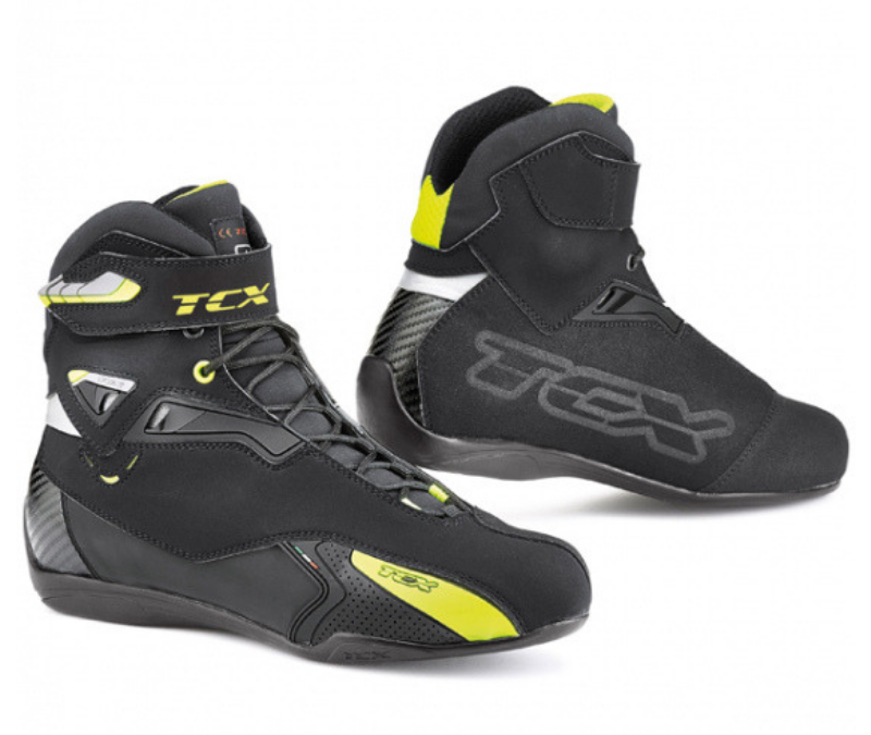 TCX RUSH WATERPROOF BOOTS BLACK/YELLOW